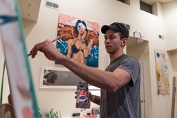 LMHS alumnus Mike Robbins 'living the dream' as painter and Temple men's basketball player