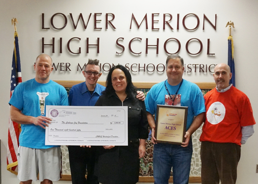 LMHS presents check for $1,850 to The Calliope Joy Foundation