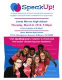 """SpeakUp!"" set to return to Lower Merion High School"