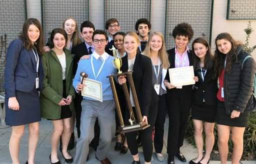"Harriton wins ""Best Small School Award"" at the Philadelphia Model U.N. Conference"