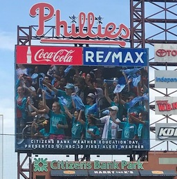 "Bala Cynwyd's ""Best Buddies"" visit Citizens Bank Park on Weather Education Day"