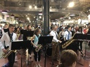 Welsh Valley Jazz Band performs at Reading Termial Market