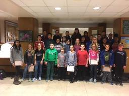 "BCMS recognizes ""Students of the Quarter"""