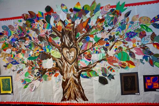 """Art Gives You Wings"" at Welsh Valley Middle School"