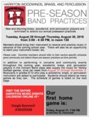 Harriton Preseason Band Practices