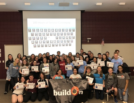 "LMHS buildOn celebrates service stars at ""100 Hours"" ceremony"