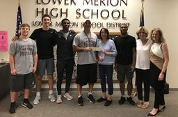 LM Football raises $1,000 for Lower Merion Township Scholarship Fund