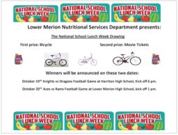 LMSD celebrates National School Lunch Week (NSLW) with football game giveaways