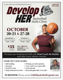 "LMHS Girls Basketball presents: ""Develop Her"" Basketball Skills Clinics"