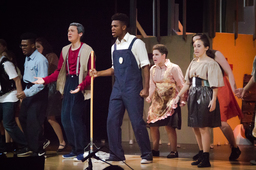 "LM Players prepare to perform ""Urinetown"""