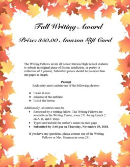 LMHS Fall Writing Contest