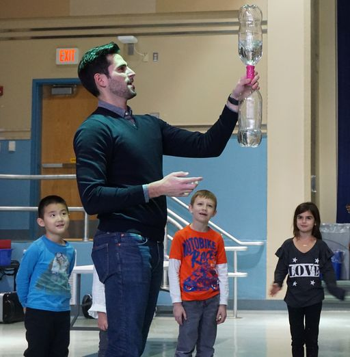 Penn Valley students explore the weather with meteorologist Drew Tuma