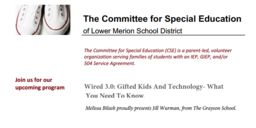"Committee for Special Education presents ""Wired 3.0: Gifted Kids & Technology"""