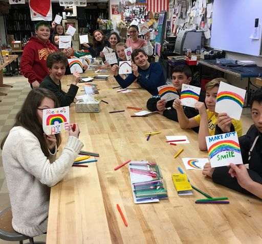 Bala Cynwyd & Lucy Belle's Rainbow continue to give hope through art
