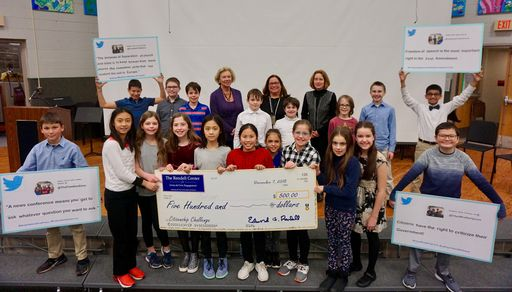 Judge Rendell visits Merion for check presentation ceremony