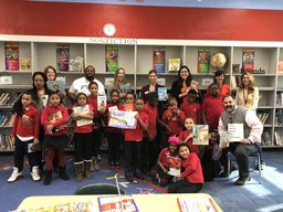 Cynwyd Elementary helps Gompers Elementary get books