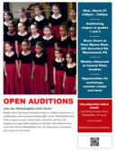 Open Auditions for the Philadelphia Girls Choir