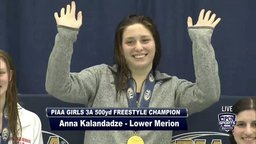 LM's Anna Kalendadze wins 500-meter Freestyle State Title for 4th consecutive year