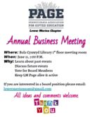 Lower Merion PAGE Annual Business Meeting