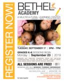Bethel Academy Multicultural Learning Center Registration