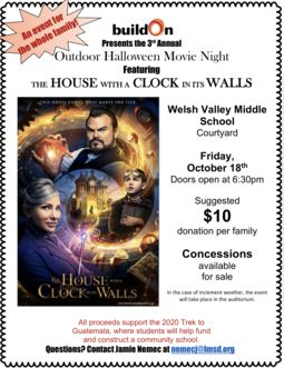 Harriton buildOn Outdoor Halloween Movie Night