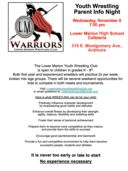 Lower Merion Warriors Youth Wrestling Club Parent Information Night