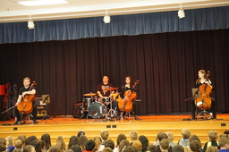 Cello Fury rocks Arts Education at Belmont Hills