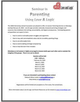 Seminar in Parenting Using Love & Logic