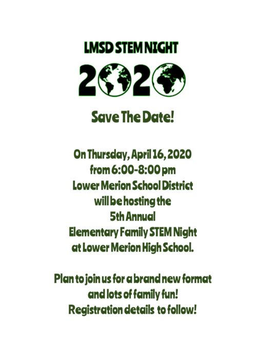 Save the Date! LMSD Elementary Family STEM Night