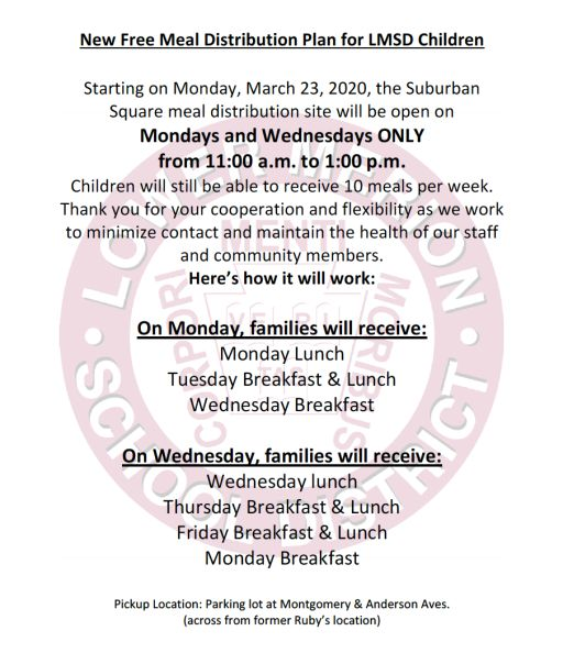New Free Meal Distribution Plan for LMSD Children