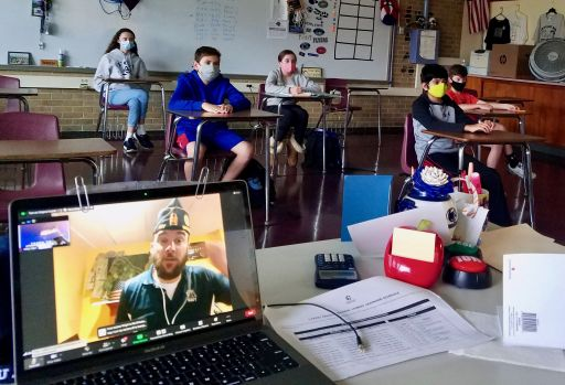 Welsh Valley Middle School Celebrates a Special Virtual Veterans Day