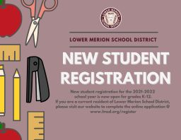 New Student Registration for the 2021-2022 School Year Now Open
