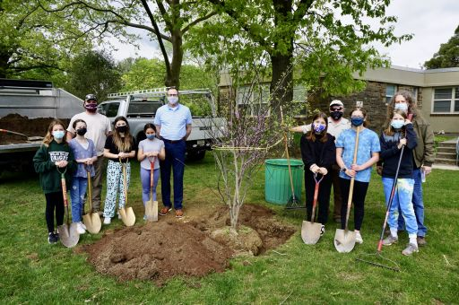 Penn Valley Green Council Continues Arbor Day Tradition with Pair of Redbud Tree Plantings