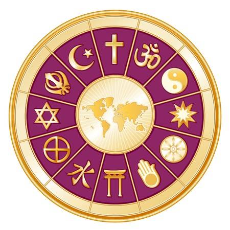 Image representing many world religions