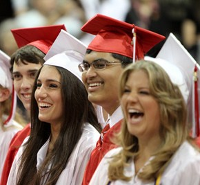 Students at Harriton's Graduation Ceremony