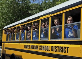 LMSD Students on one of the District's CNG buses.