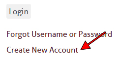 Create New Account link