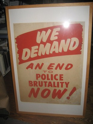 Sign: We Demand An End To Police Brutality Now!