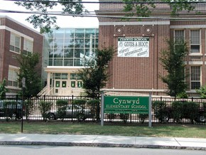 Entrance to Cynwyd Elementary School