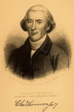 Drawing of Charles Thomson