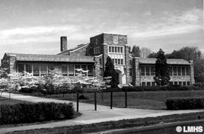Black and white photo of Merion Elementary