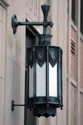 Lamp by the entrance to Penn Wynne
