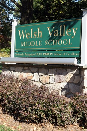 Welsh Valley Middle School Sign